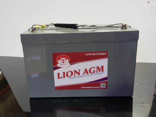 Lion AGM (absorbed glass matt) battery 120 A/H (HZBEV12-120)